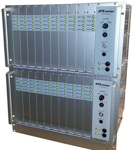 Racks HT installés au laboratoire de fiabilité STM Tours